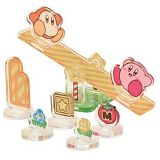 Kirby and Waddle Dee Sea-Saw Moving Acrylic Diorama Stand