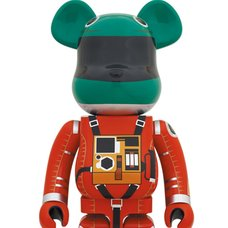 BE@RBRICK 2001: A Space Odyssey Space Suit Green Helmet & Orange Suit Ver. 1000%