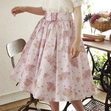 LIZ LISA Grape Rose Mid-Length Skirt