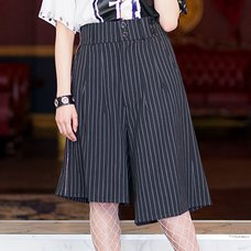 LISTEN FLAVOR Pleated Asymmetrical Gaucho Pants w/ Flap