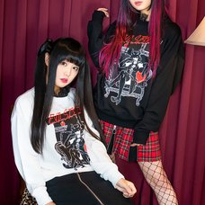 LISTEN FLAVOR Evil Sister Lace Collar Pullover