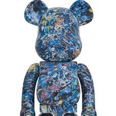 BE@RBRICK Jackson Pollock Studio 1000% Water Print Ver.
