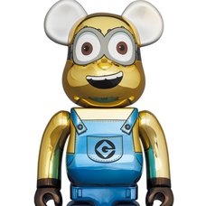BE@RBRICK Minions Dave: Chrome Ver. 1000%