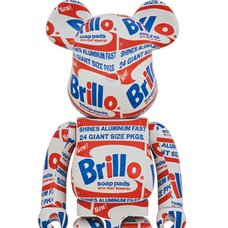 BE@RBRICK Andy Warhol Brillo 1000%