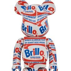 BE@RBRICK Andy Warhol Brillo 1000%