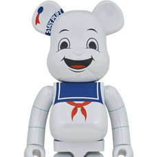 BE@RBRICK Ghostbusters Stay Puft Marshmallow Man: White Chrome Ver. 1000%