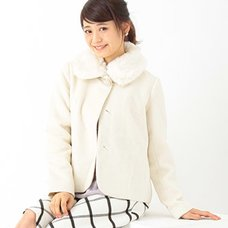 earth music&ecology Fur Tippet Coat