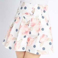 LIZ LISA Floral Polka Dot Sukapan Skirt