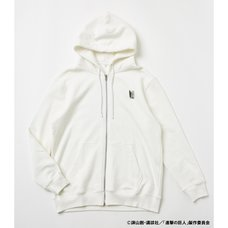 Attack on Titan R4G Survey Corps White Zip Hoodie