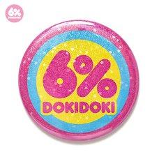 6%DOKIDOKI Glitter Star Logo Tin Badge