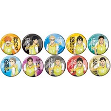 Haikyu!! Karasuno High vs Shiratorizawa Academy Character Pin Badge Collection Box Set