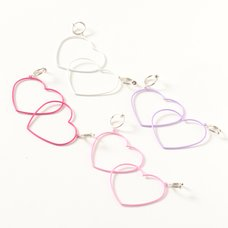 Osewaya Slender Heart Clip-On Earrings