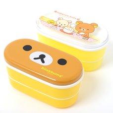 Rilakkuma Two-Tier Lunch Box with Chopsticks
