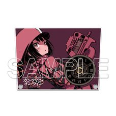 Sword Art Online Alternative: Gun Gale Online Acrylic Clock