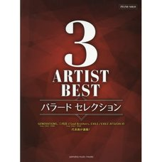 Best Songs for 3 Artists Ballad Selections Piano Solo
