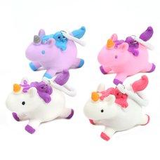 Squishy Unicorn Keychain Collection