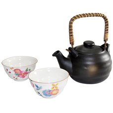 Hanawa Mino Ware Earthenware Teapot Set