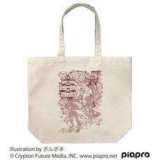 Sakura Miku Borubone Ver. Natural Large Tote Bag
