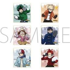 My Hero Academia Snowball Fight Mini Shikishi Board Box Set