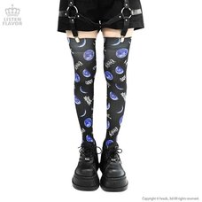 LISTEN FLAVOR Metal Moon Knee-High Socks