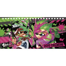 Splatoon 2 2019 Desktop Calendar