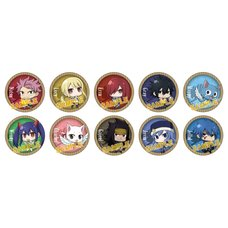 Fairy Tail Chibi Character Pin Badge Collection Box Set