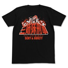 The Idolm@ster Cinderella Girls Theater Sexy & Guilty Three Sisters Police Black T-Shirt