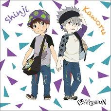 EVA STORE TOKYO-01 Original Kid's Fare Shinji & Kaworu Cushion