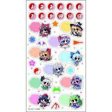 Touhou Project Schedule Book Stickers
