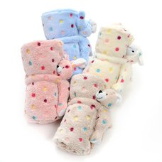 Dakko Multi-Color Polka Dot Doll Blanket