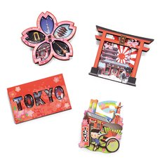 Souvenir Japan Tokyo Series Wood Magnet Collection