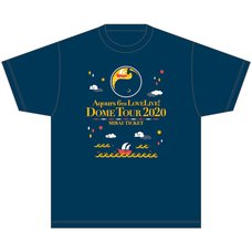 Aqours 6th LOVELIVE! Dome Tour 2020 T-Shirt ~MIRAI TICKET~