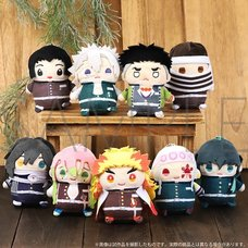 Demon Slayer: Kimetsu no Yaiba Mame-Mate Plush Keychain Collection