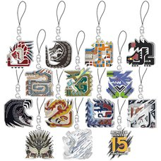 Monster Hunter 15th Anniversary Main Moster Icon Stained Strap Collection Box Set