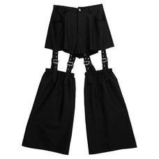 LISTEN FLAVOR Zettai Ryoiki Black Detachable Pants