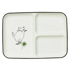 Wildflower & Cat Lacquerware Lunch Plate