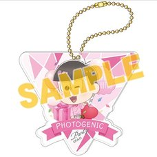 Osomatsu-san Photogenic Party Todomatsu Big Acrylic Ball Chain Charm