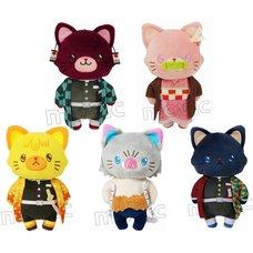 Kimetsu no Yaiba Cat Plush Keychain Collection