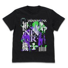 Evangelion Unit-01 Acid Graphics Black T-Shirt