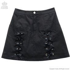 LISTEN FLAVOR Ribbon Trapezoid Skirt