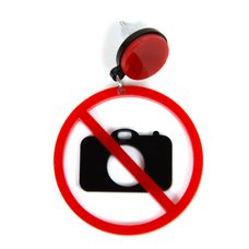 No Photography Earring