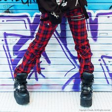 LISTEN FLAVOR Checkered Convertible Bondage Pants