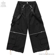 LISTEN FLAVOR Detachable Cargo Pants w/ Suspenders