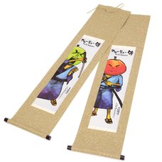 Fruity Samurai Hanging Scroll