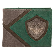 Legend of Zelda Hylian Shield Metal Emblem Bi-Fold Wallet