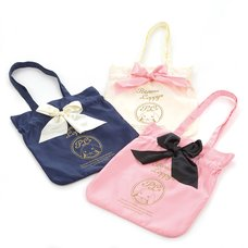 Pote Usa Loppy Satin Ribbon Tote Bag
