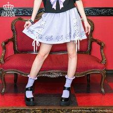 LISTEN FLAVOR Love Heart Lace-Up Circular Skirt