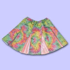 NUEZZZ Rough Sketch All-Over Print Cheer Skirt