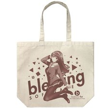 Saekano: How to Raise a Boring Girlfriend Flat Utaha Kasumigaoka Natural Large Tote Bag