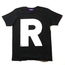 RADIO EVA 410 NERV Letter R Black T-Shirt
